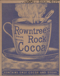 Advert for Rowntree's Rock Cocoa